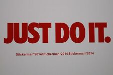 2x Nike Just Do It Car Vehicle kitchen Vinyl Sticker Stickers Decal ref 00012