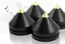 4x Indonesia Ebony Wooden Tip Spike Cone Isolation Feet AMP Speaker Turntable
