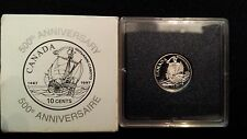 CANADA 1997 Sterling Silver Giovanni Caboto 10 cents Proof Dime - John Cabot