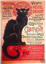 Le Chat Noir Black Cat Retro A3 LARGE Paris Print Art Deco French Gift