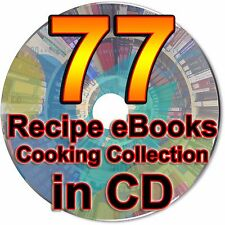 77 Recipe eBooks Cooking Collection Kitchen Digital Books Chocolate Culinary CD