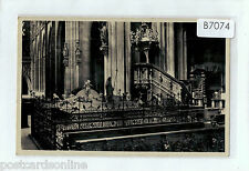 B4074aps Czech Republic Prague Chanel Royal Mausoleum c1930's vintage postcard
