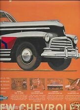 CHEVROLET 1946 FLEETLINE GET THAT BIG CAR STYLING LOWEST COST 2 PG CONNECTED AD