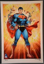 Superman Jim Lee Art Print Limited to 30