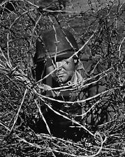 US Army Soldier Barbed Wire WWII Photo FL90