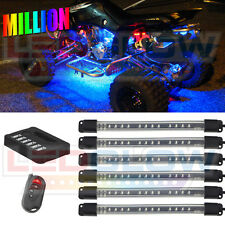 NEW 6pc LEDGLOW MILLION COLOR FLEXIBLE ATV QUAD UTV NEON GLOW LIGHTING KIT