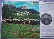 SXL 6056 MOZART Symphony 33 39 KERTESZ VPO NEAR MINT UK Decca 2W/2W Narrow Band