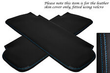 BLUE STITCHING FITS CORVETTE 1968-1976 2X SUN VISORS LEATHER COVERS ONLY