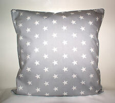 "COOL RETRO PALE GREY STARS  CUSHION COVER 16""x16"""