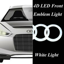 White Cool 4D LED Light Car Front Grille Badge Emblem Logo fit for Audi Q3 Q5