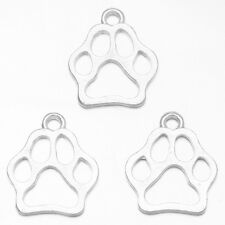 50pcs Silver Plated Bear Claw Charms Alloy Craft Pendants Jewellery Findings BS