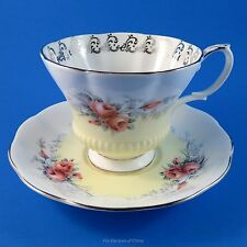 "Royal Albert Yellow & Roses Rose Marie Series "" Moonglow "" Tea Cup and Saucer"