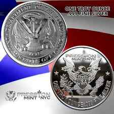 "NEW 1 TROY OUNCE . 999 FINE SILVER MILITARY PROOF COIN ""US ARMY"" 1OZ Not Copper"