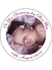 30 PRE-CUT EDIBLE WAFER CUP CAKE TOPPERS PERSONALISED PICTURE PHOTO TEXT IMAGE