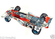Mclaren 1976 F1 James Hunt Motorsport cutaway Large promo poster