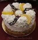 Künstliche Torte Sahnetorte Zitronen Zitronenkuchen Lebensmittel-Attrappe 14cm