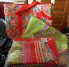 Vera Bradley Paradise beach towel, cooler tote and Mesh Tote set NWT