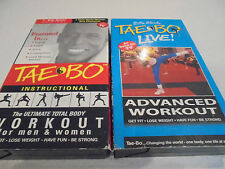 TAE BO Instructional Workout TAEBO Advanced Workout Billy Blanks Video VHS Tape