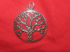 NEW 33MM SILVER CELTIC IRELAND IRISH LARGE TREE OF LIFE CHARM PENDANT NECKLACE