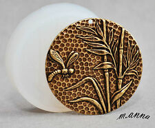 DRAGONFLY MEDALLION SILICONE MOULD PENDANT POLYMER CLAY FIMO  SUGARCRAFT MOLD