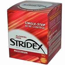 Stridex, Single-Step Acne Control, Maximum, Alcohol Free, 90 Soft Touch Pads