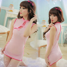 Sexy Lingerie - Pink Cheongsam Qipao Costume - Ships from USA! victoria secret