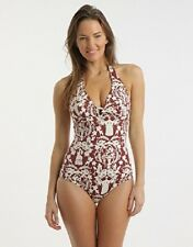 HUIT JOLIE MADAME SEQUOIA PADDED HALTER SWIMSUIT SIZE 32C/10C NEW W/ TAGS