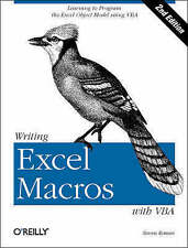 """STEVEN ROMAN 100% AUTHENTIC """"WRITING EXCEL MACROS WITH VBA"""" 2ND (PAPERBACK)"""