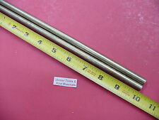 "2 Pieces 3/8"" C360 BRASS SOLID ROUND ROD 10"" long New Lathe Bar Stock .375"""