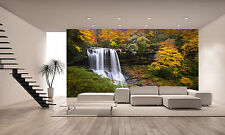 Autumn Forest Waterfall Wall Mural Photo Wallpaper GIANT WALL DECOR POSTER