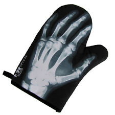 Skeleton Hand Bones Oven Mitt Hot Stove BBQ Glove Human X-Ray Bone Pot Holder