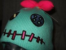 Nwt Cute Disney Lilo And Stitch Scrump Knit Laplander Space Alien Bow Beanie Hat