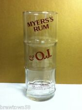 Myer's Rum and OJ imported from Jamaica tall drink cocktail glass glasses 1 RS4