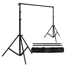 3-Lever Foldable Aluminum Alloy Simple Photography Backdrop Stand Support Black/
