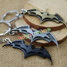 1pc Batman Dark Knight Zinc Alloy Bronze Pewter Black Metal Ring Key Chain New