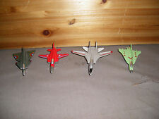 Lot Of 4 Die Cast Model Airplanes F-14,F-20, JS2.89 and F-16