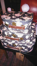 3 Fabulous Sass & Belle Vintage Floral Design Display Storage Suit Cases BNWT