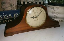 VINTAGE RARE HERSCHEDE WESTMINSTER CHIME CHEER WOOD MANTLE CLOCK  H-850 REPAIR