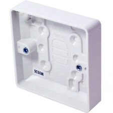 38mm Deep Single Plastic Surface Mounted Back Box - 1 Gang Wall Pattress Outlet