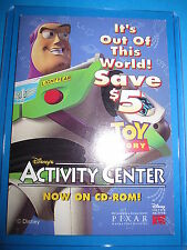 TOY STORY CARD DISNEY'S ACTIVITY CENTER COUPON SAVE 5% SKYBOX 2003 RARE