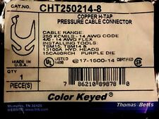 Thomas & Betts CHT250214-8 Copper H-Tap Pressure Cable Connector (Lot of 2)