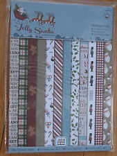 A5 Jolly Santa 24 Sheet Paper Pack by Docrafts designed by Andrea Jane BN