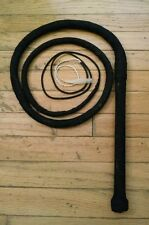 Bull whip-Black apprx 7 ft long loud(see video) w/ rope,chain,paracord