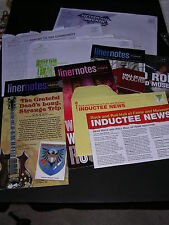 ROCK & ROLL MUSEUM mailings of LINER NOTES & INDUCTEE NEWS to SLY STONE