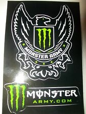 1 *NEW*  MONSTER ENERGY ARMY STICKER,DECAL (3 x 4.5 inches)  *NEW* fox racing