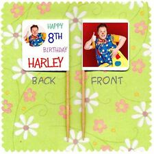 20 PERSONALISED MR TUMBLE CUP CAKE FLAG Party Pick Topper Decoration Birthday