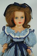 "Monica Of Hollywood Studio Rooted Hair 17"" Composition 1940's Doll Original Tag"
