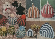 Vintage Knitting & Crochet Patterns:Tea Cosies/Egg Cosies/Poodle Bottle Cover
