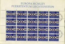 Briefmarken Liechtenstein Nr 454 o gestempelt Europa Marke 1965 BRS1031