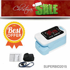 Hot Sale!!LED Fingertip Pulse Oximeter Spo2 Monitor Pulse rate Oximetry BLUE M